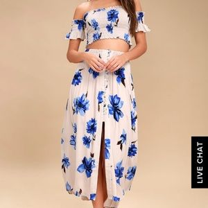 Two piece top and skirt
